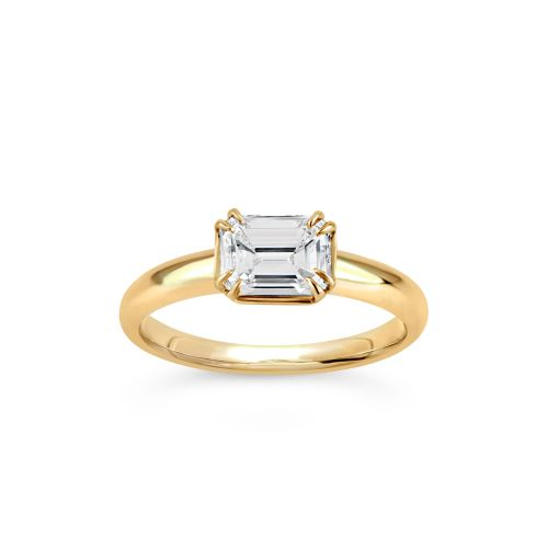 Dinny Hall Jessie 18K Emerald Cut Diamond Solitaire Ring