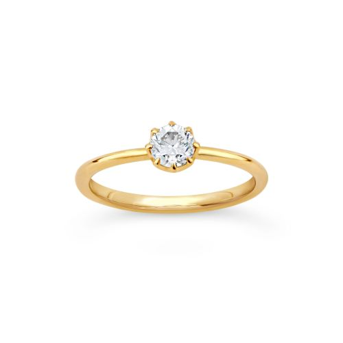 Dinny Hall Elyhara 18K Diamond Solitaire Ring