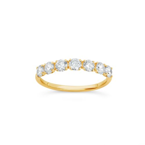 14k Gold Diamond Primrose Half Eternity Ring