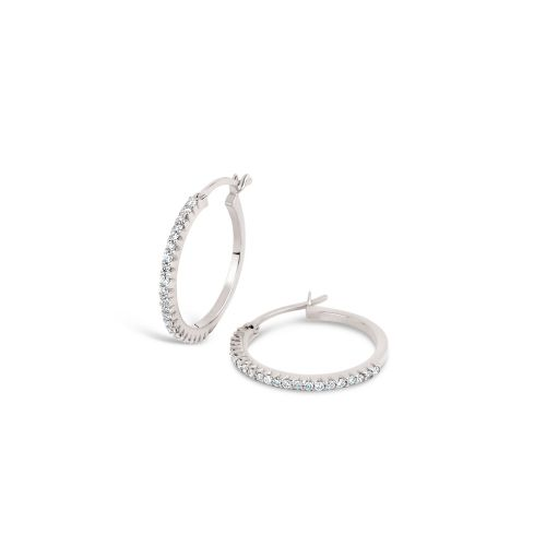 Dinny Hall Bijou Solid 14k Micro Set Diamond Hoop Earrings