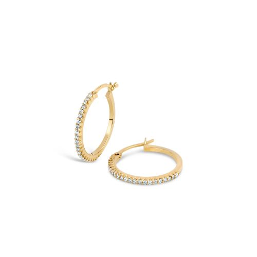 Dinny Hall Shuga Solid 14k Micro Set Diamond Hoop Earrings