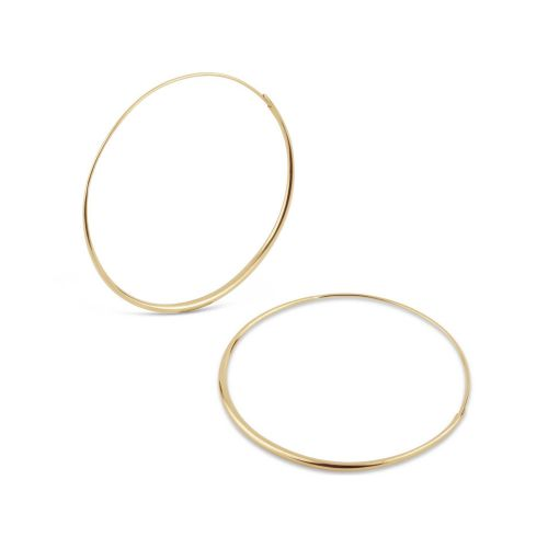 Large Solid Gold Hoop Earrings