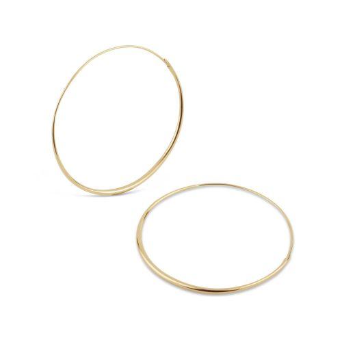 Large Solid Gold Hoop Earrings