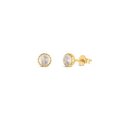 Gem Drop Rose Cut Stud Earrings