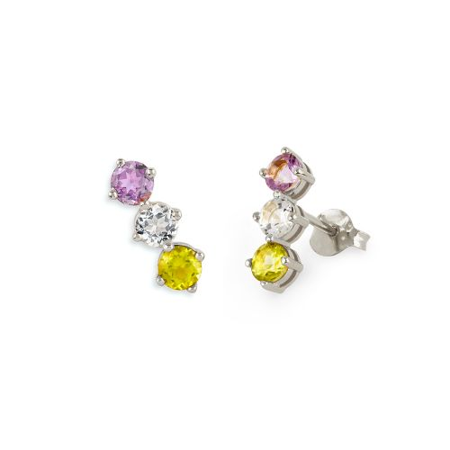 Dinny Hall Gem Drop Trilogy Bar Studs