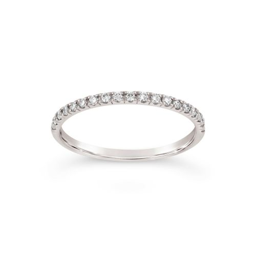 MICRO SET HALF ETERNITY RING