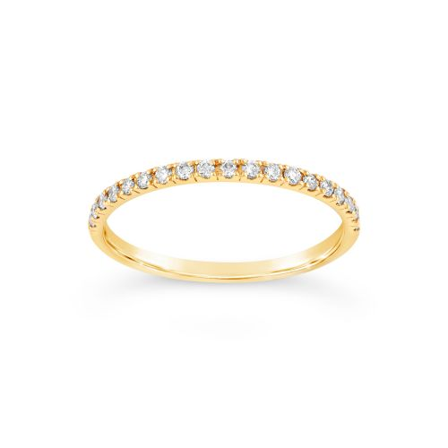 18k Gold Micro Set Half Eternity Ring