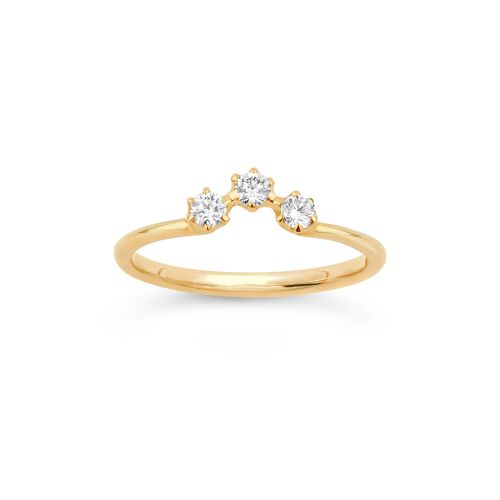 Dinny Hall Elyhara 18K Diamond Crown Ring