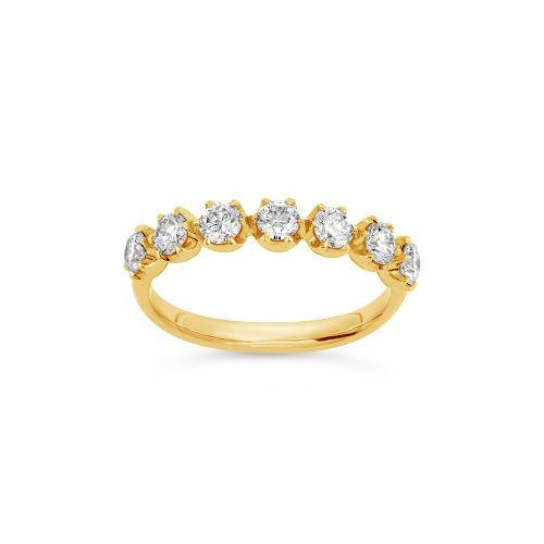Elyhara 18k Gold Diamond Seven Stone Ring