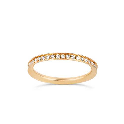 18K Yellow Gold Thread Set Full Eternity Ring