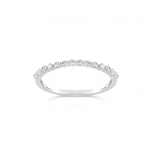 Sweet Pea 18K Diamond Half Eternity Ring