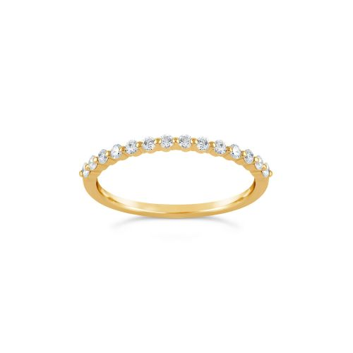 Sweet Pea 18K Diamond Half Eternity Ring