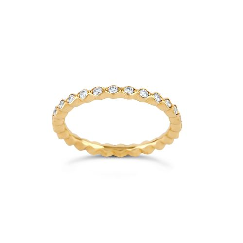ROSEMARY 18K GOLD DIAMOND FULL ETERNITY RING
