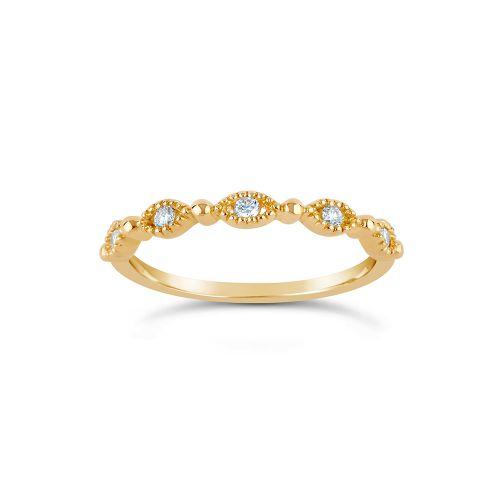 Jasmine 14k Gold Diamond Set Half Eternity Ring