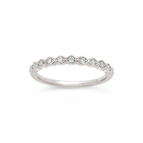 Rosemary 14k Gold Diamond Set Half Eternity Ring