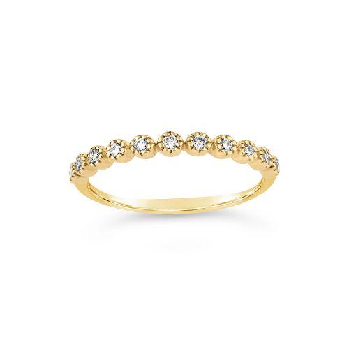 14k Diamond Forget Me Not Half Eternity Ring