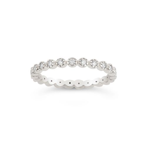 14k Diamond Forget Me Not Full Eternity Ring