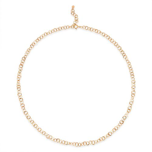 Planished 10 Karat Gold Necklace