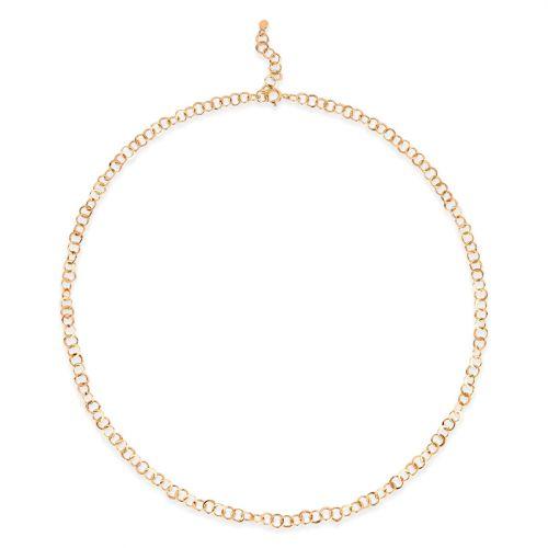 Planished 10 Karat Gold Necklace