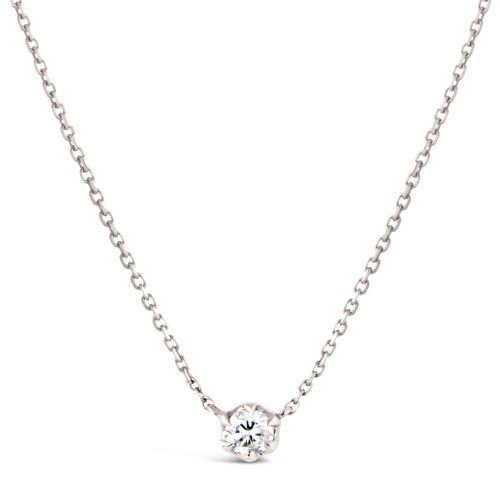 Elyhara 18k White Gold 0.25ct Diamond Pendant
