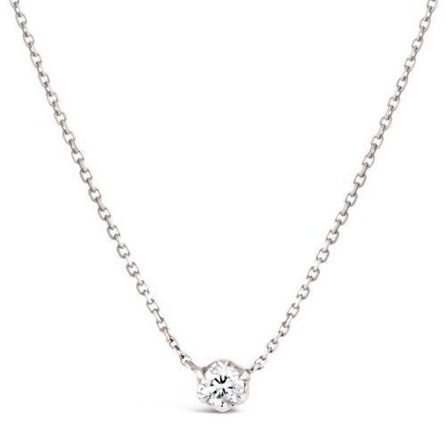 Elyhara 18k White Gold 0.25ct Diamond Pendant