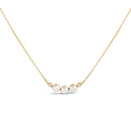 14 karat gold Pearl Bar Pendant