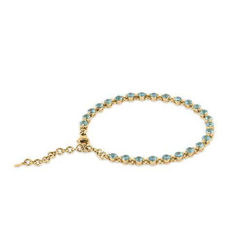 Shuga 14k Gold Apatite Tennis Bracelet