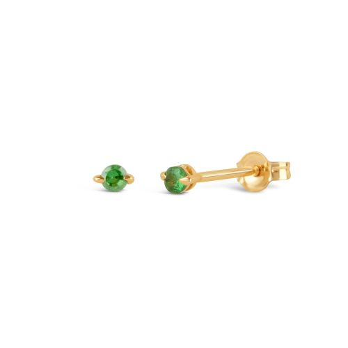 Small Stud Earrings set with tsavorite