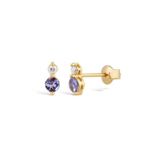 Shuga 14k Gold Double Studs