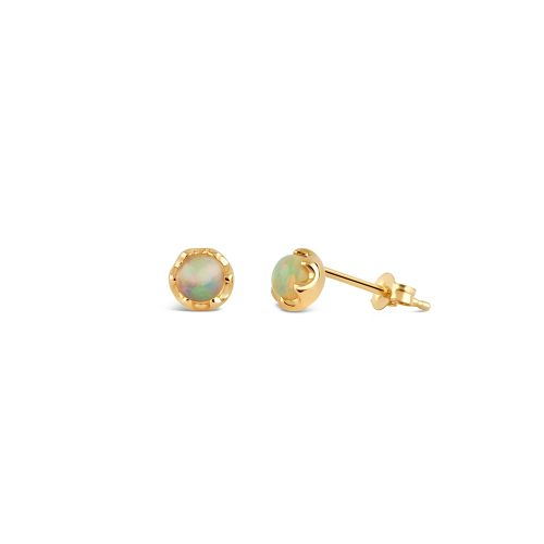 14k Gold Opal Stud Earrings