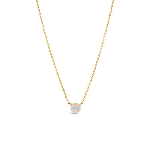 14k Gold Moonstone Pendant