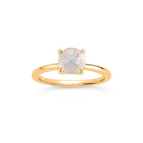 14k Gold Moonstone Ring