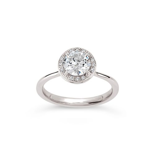 Sheba Round 18k Gold Old Cut Diamond and Brilliant Cut Diamond Ring