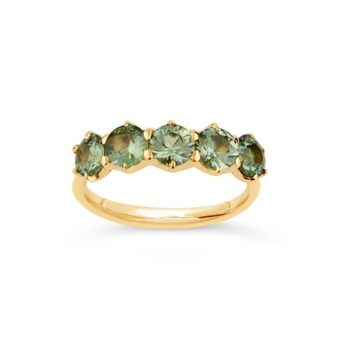 Elyhara 18k Gold Sapphire Five Stone Ring