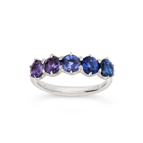 Elyhara 18k Gold Ombre Sapphire Five Stone Ring