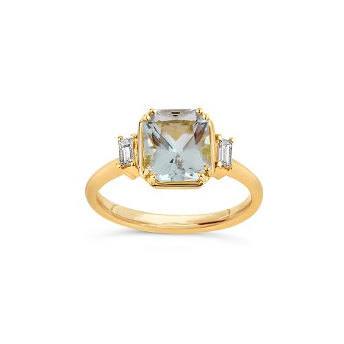 Mini Mae West 18k Gold Fine Beryl Ring