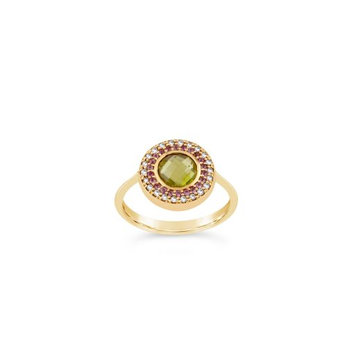 14k Gold Double Halo Pinky Ring
