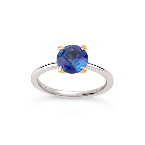 Lizzy 18k Gold Royal Blue Sapphire Ring