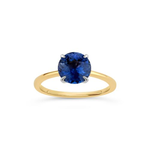 Lizzy 18k Gold Fine Blue Sapphire Ring