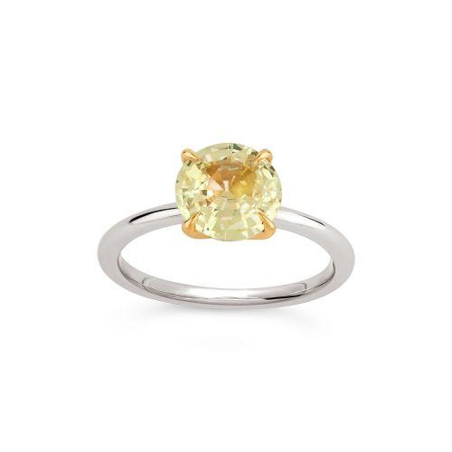 Lizzy 18K Gold Fine Lemon Yellow Sapphire Ring