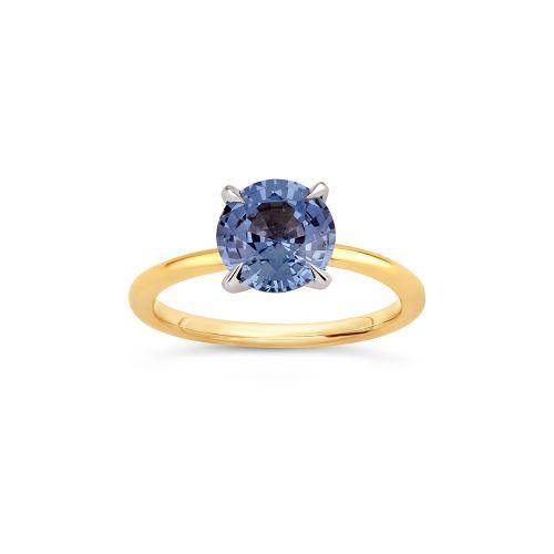 Lizzy 18k Gold Fine Dove Blue Sapphire Ring