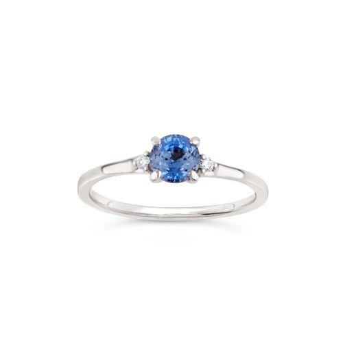 Kassia 18k Gold Fine Sapphire and Brilliant Cut Diamonds Ring