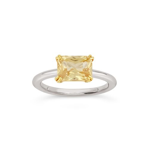 Hollie 18k Gold Fine Yellow Sapphire Ring