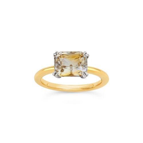 Hollie 18k Gold Fine Bi-Coloured Sapphire Ring