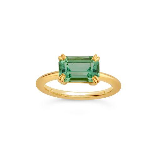 Hollie 18k Gold Fine Chrome Green Tourmaline Ring