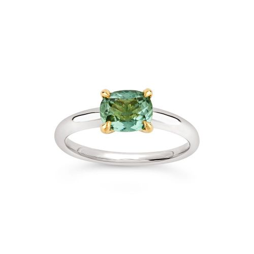 Lyla 18K Gold Fine Green Tourmaline Ring