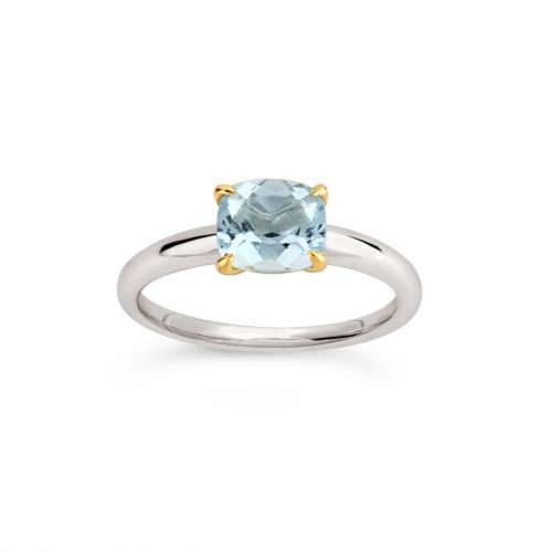 Lyla 18K Gold Fine Aquamarine Ring
