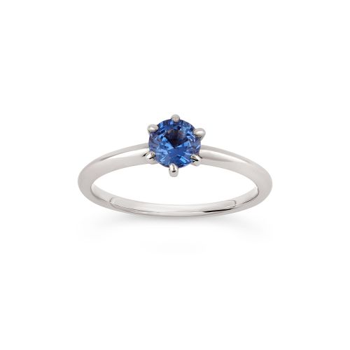 Miss Lily 18k Gold Fine Cornflower Blue  Sapphire Ring
