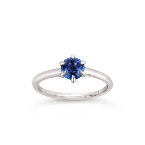 Lily 18k Gold Fine Blue Sapphire Ring