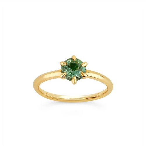 Lily 18k Gold Fine Green Sapphire Ring